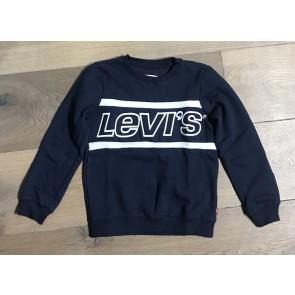 Levi's kids sweater trui met logo print in de kleur donkerblauw