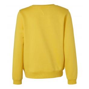 Tommy Hilfiger kids girls sweater trui met logo print in de kleur geel