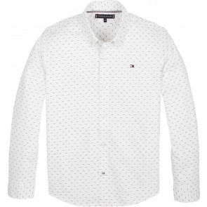 Tommy Hilfiger kids boys mini all over print shirt blouse in de kleur bright white