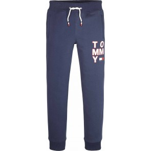 Tommy Hilfiger kids boys graphic sweatpants broek in de kleur donkerblauw