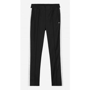 Nik en Nik boys sportieve pantalon broek met bies in de kleur zwart