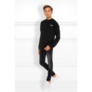 Nik en Nik boys Francis skinny jeans broek in de kleur dark grey denim