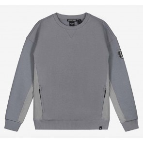 Nik en Nik boys sweater trui Keagan sweater in de kleur stone grey grijs