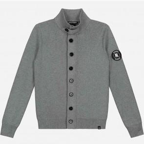 Nik en Nik boys fijngebreid vest Harvell cardigan in de kleur grijs