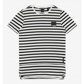 Nik en Nik boys Kirill t-shirt met strepen in de kleur zwart/wit