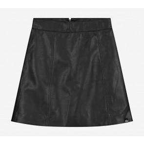 Nik en Nik kids girls Cisly skirt in imitatieleer in de kleur zwart