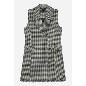 Nik en Nik jurk Morley dress pied de poule print in de kleur zwart/wit