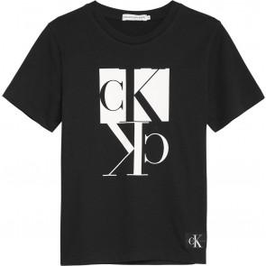 Calvin Klein Jeans t-shirt met logo in de kleur zwart