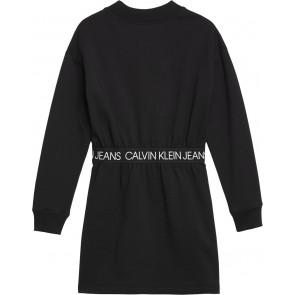 Calvin Klein Jeans jurk met logoband in de kleur zwart