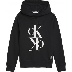 Calvin Klein Jeans hoodie trui met logo in de kleur zwart