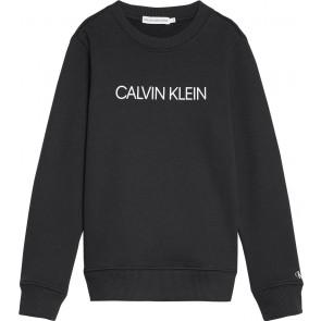 Calvin Klein Jeans sweater trui met logo in de kleur zwart
