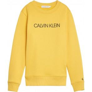 Calvin Klein Jeans sweater trui met logo in de kleur geel