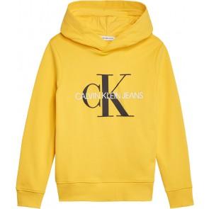 Calvin Klein Jeans hoodie trui met logo in de kleur geel