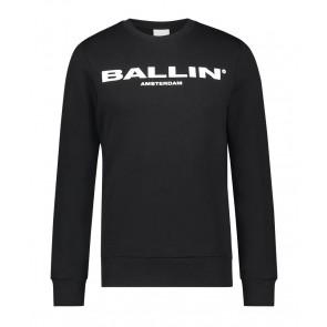 Ballin Amsterdam kids sweater trui met logo print in de kleur zwart