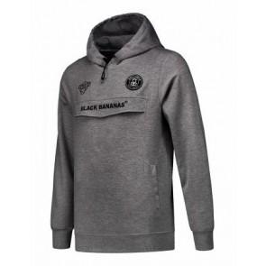Black Bananas anorak hoodie sweater trui in de kleur antraciet grijs