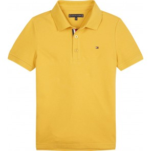 Tommy Hilfiger kids boys essential slim fit polo in de kleur okergeel