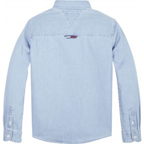 Tommy Hilfiger denim blouse in de kleur jeansblauw