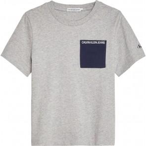 Calvin Klein Jeans t-shirt met logo in de kleur grijs