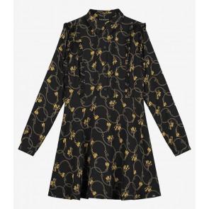 NIK en NIK Chainy jurk met all-over print in de kleur zwart