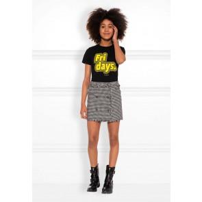 NIK en NIK Fridays t-shirt met print in de kleur zwart