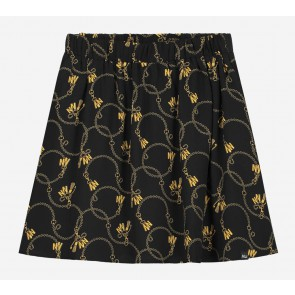 NIK en NIK Chainy Cissy rok met all-over print in de kleur zwart