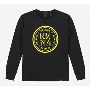 NIK en NIK sweater trui NN in de kleur zwart