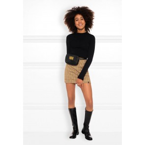 NIK en NIK Twigly geruite a-line rok in de kleur bruin