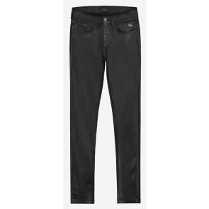 NIK en NIK skinny fit leatherlook broek in de kleur zwart