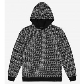 NIK en NIK Kyra hoodie trui met over-all logoprint in de kleur zwart