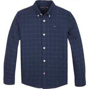 Tommy Hilfiger blouse met ruiten in de kleur donkerblauw