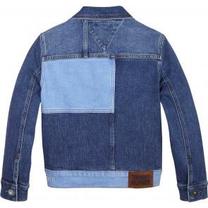 Tommy Hilfiger unisex spijkerjasje trucker jeans jasje in de kleur jeansblauw