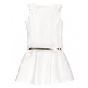 Rumbl Royal jurk met roezels en riempje in de kleur off white