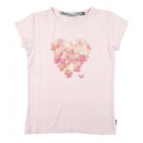 Rumbl Royal t-shirt met grote pailletten in de kleur zachtroze