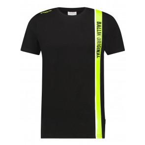 Ballin Amsterdam t-shirt original in de kleur zwart/fluor geel