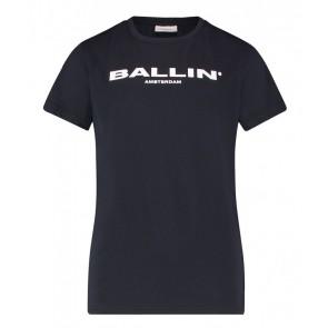 Ballin Amsterdam t-shirt met logo print in de kleur donkerblauw