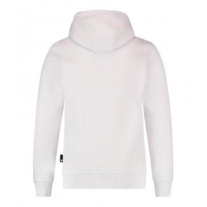 Ballin Amsterdam hoodie sweater trui met logo print in de kleur wit