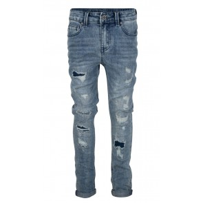 Indian blue jeans Jay tapered fit 2760 met scheuren in de kleur jeansblauw