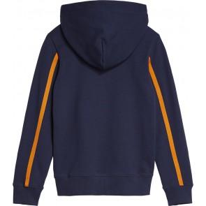 Calvin Klein kids monogram stripe hoodie sweater in de kleur donkerblauw