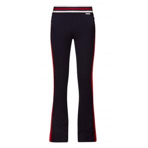 Retour jeans jersey flared pants broek met rode bies in de kleur donkerblauw