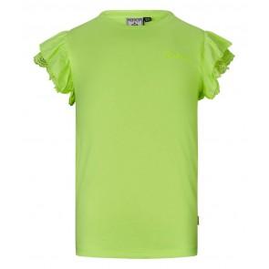 Retour jeans Hanna t-shirt met ruches in de kleur neon yellow geel