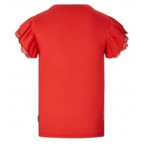 Retour jeans Hanna t-shirt met ruches in de kleur rood