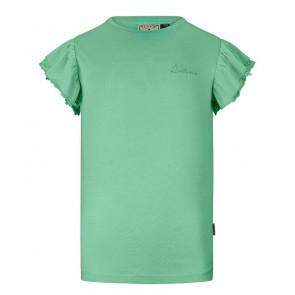 Retour jeans Hanna t-shirt met ruches in de kleur mintgroen