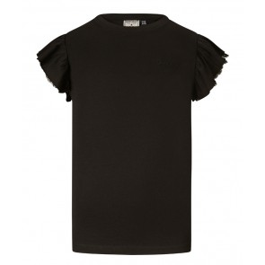 Retour jeans Hanna t-shirt met ruches in de kleur zwart