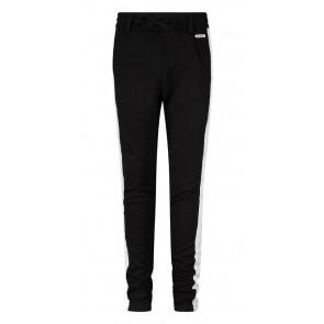 Retour jeans zachte jersey broek met witte bies in de kleur zwart