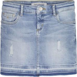 Calvin Klein kids girls luster skirt spijkerrok in de kleur jeansblauw