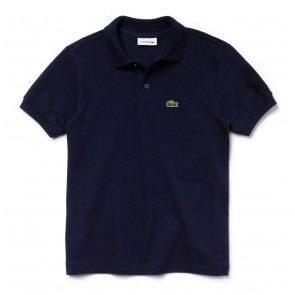 Lacoste kids boys piqué polo shirt in de kleur navy blue donkerblauw