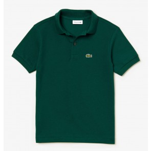 Lacoste kids boys piqué polo shirt in de kleur donkergroen