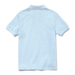 Lacoste kids boys piqué polo shirt in de kleur lichtblauw