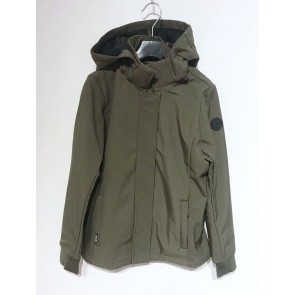 Airforce kids girls softshell jas jacket in de kleur army green groen