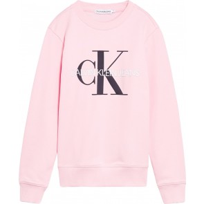 Calvin Klein kids girls monogram logo sweater trui in de kleur zachtroze